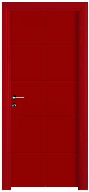 דלת אדומה מעוצבת - דלתות חמדיה
