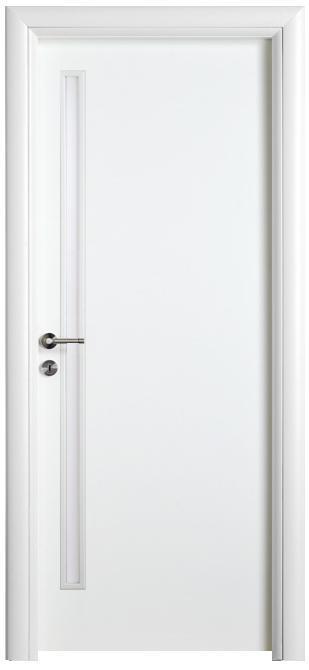 דלת לבנה משקוף פיאצה - דלתות חמדיה