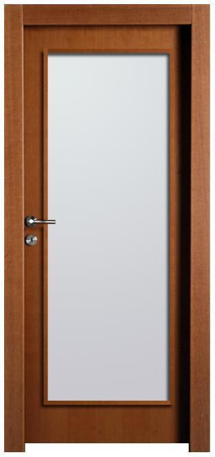 דלת פורניר חלון גדול - דלתות חמדיה