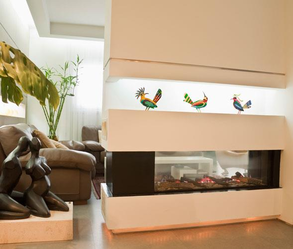 """קמין מעוצב לחדרי מגורים - אורטל פתרונות חימום בע""""מ"""