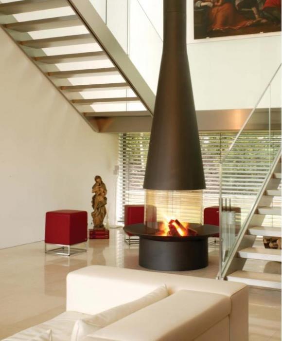 """תנור עצים עגול - אורטל פתרונות חימום בע""""מ"""