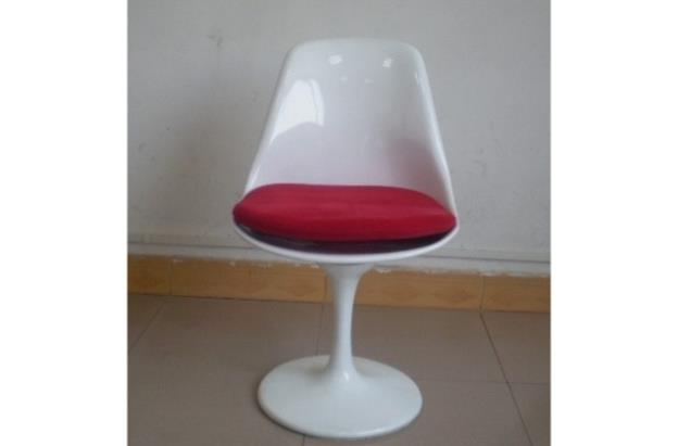 כסא לבן עגול - היבואנים