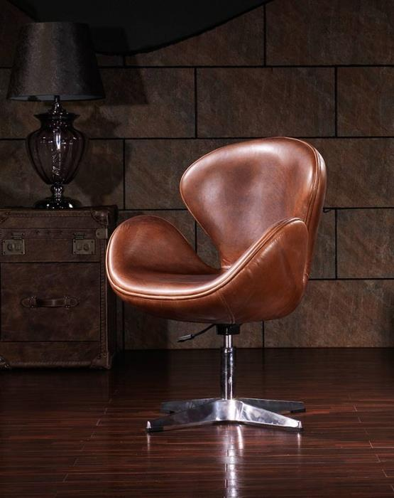 כיסא עור ואלומיניום - היבואנים