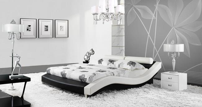 מיטת עור בעיצוב גלי - היבואנים