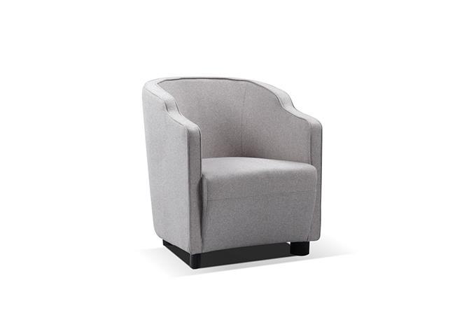 כורסא מעוצבת אפורה - היבואנים