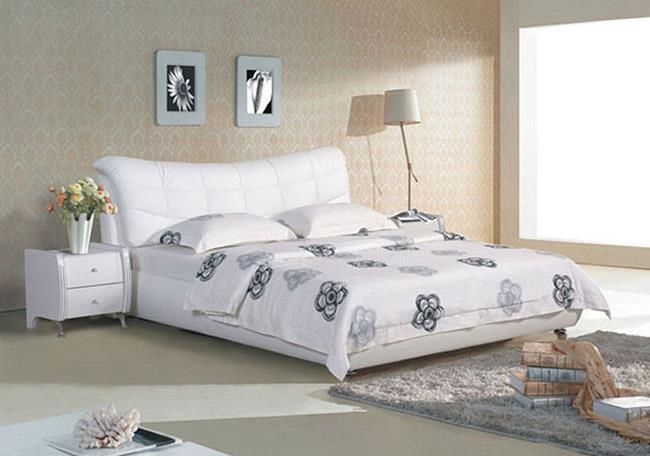 מיטה לבנה מעור - היבואנים