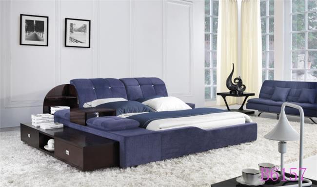מיטה זוגית כחולה - היבואנים