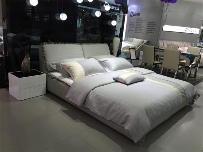 מיטה זוגית מרופדת אפור - היבואנים