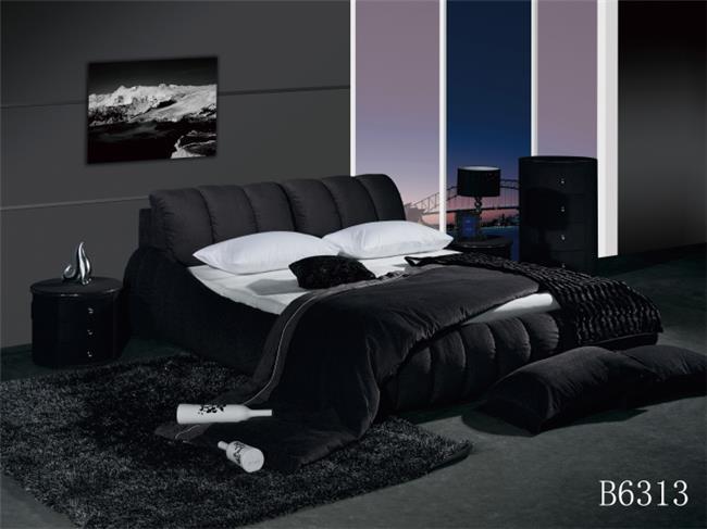 מיטה זוגית מרופדת שחורה - היבואנים