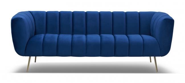 ספה כחולה מעוצבת - היבואנים