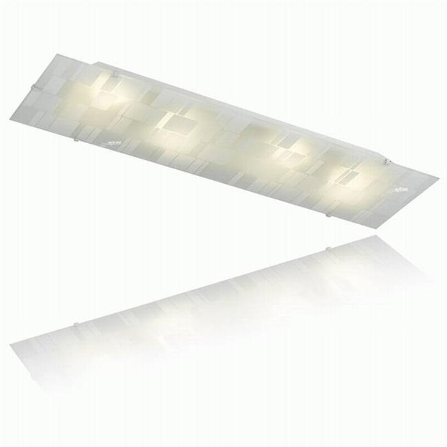 צמוד תקרה בעיטור מלבנים - שקע ותקע