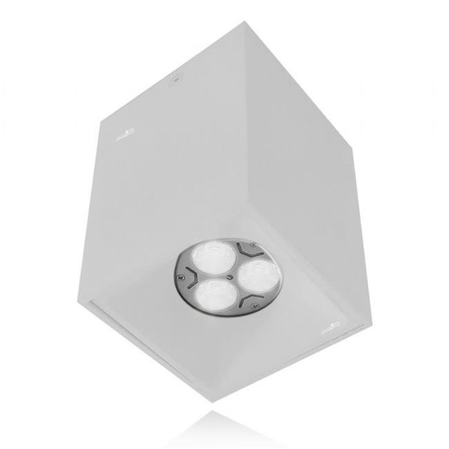 מנורה צמודת תקרה מרובעת - שקע ותקע