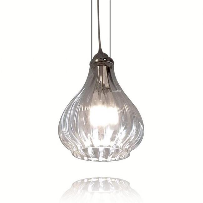 מנורה שקופה לתליה - שקע ותקע