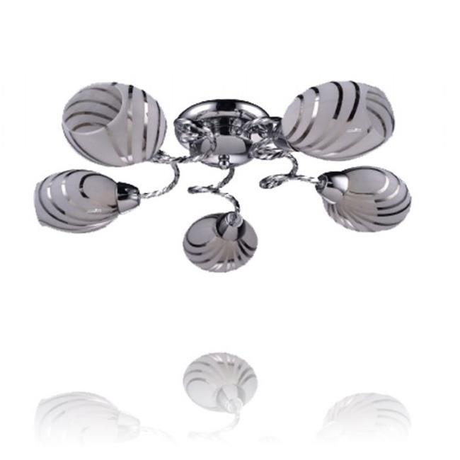 מנורה מעוצבת לתקרה - שקע ותקע