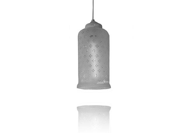 תאורת תקרה מזכוכית - שקע ותקע