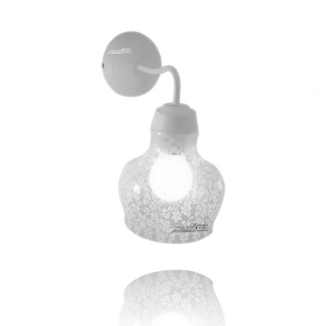גוף תאורה מעוצב לקיר - שקע ותקע