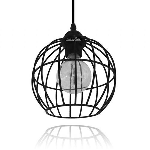 מנורת תלייה עגולה - שקע ותקע