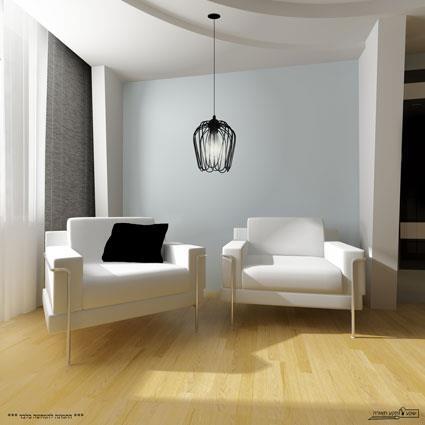 מנורה תלויה מברזל - שקע ותקע
