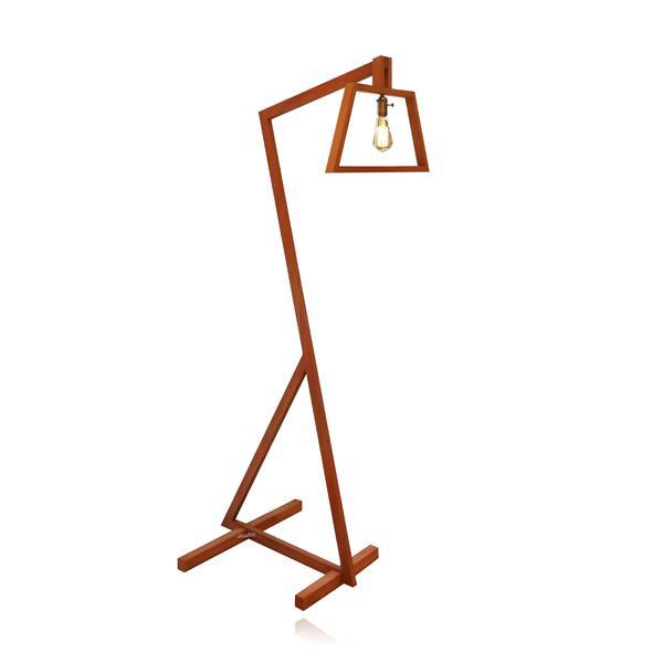 מנורת עמידה גבעול עץ - שקע ותקע