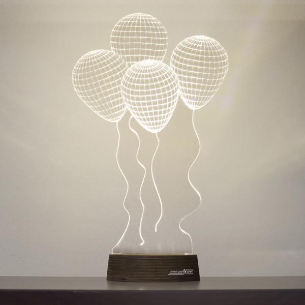 מנורת גביש - בלונים - שקע ותקע