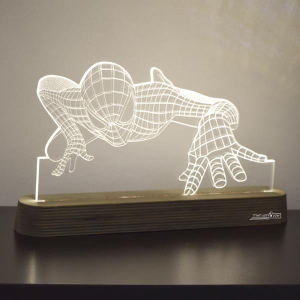 מנורת גביש - ספיידרמן - שקע ותקע
