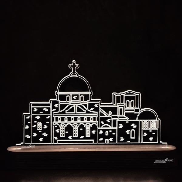 מנורת גביש - כנסיית הקבר - שקע ותקע
