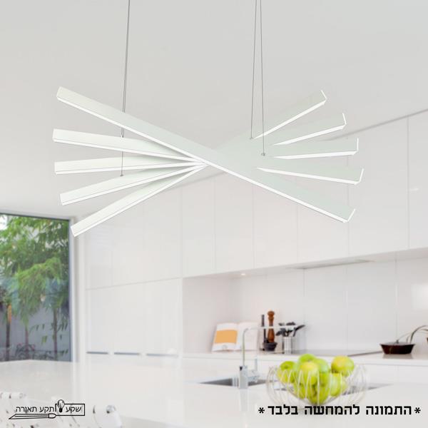 מנורת תליה מניפה 100W - שקע ותקע