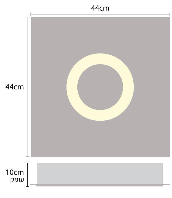 גוף תאורה טבעת 30 - שקע ותקע