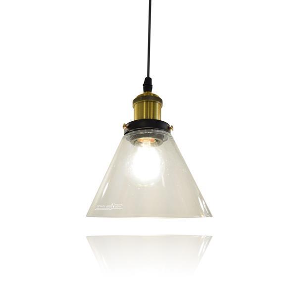 מנורת תליה זכוכית 2278 - שקע ותקע