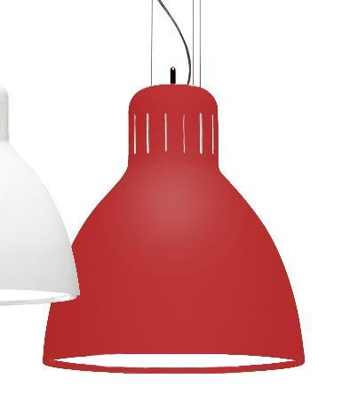מנורה תלויה אדומה  - יאיר דורם תאורה - עודפים