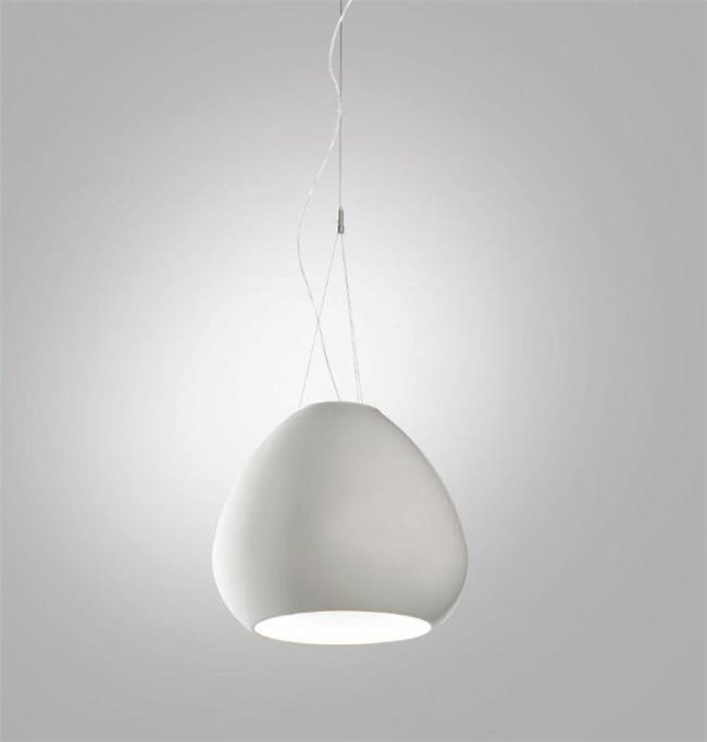 מנורה לבנה לתליה מהתקרה - קמחי תאורה