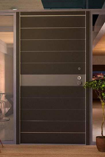 דלת כניסה חומה - דקור - DECOR