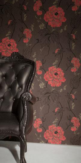 טפט פרחים כתומים - דומוס ארט - וילונות
