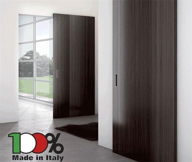 דלת הזזה שחורה - לה פורטה - דלתות פנים