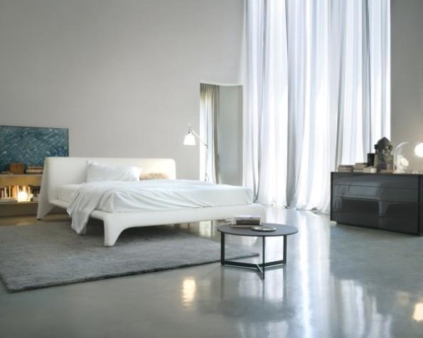 מיטה זוגית לבנה - The Box
