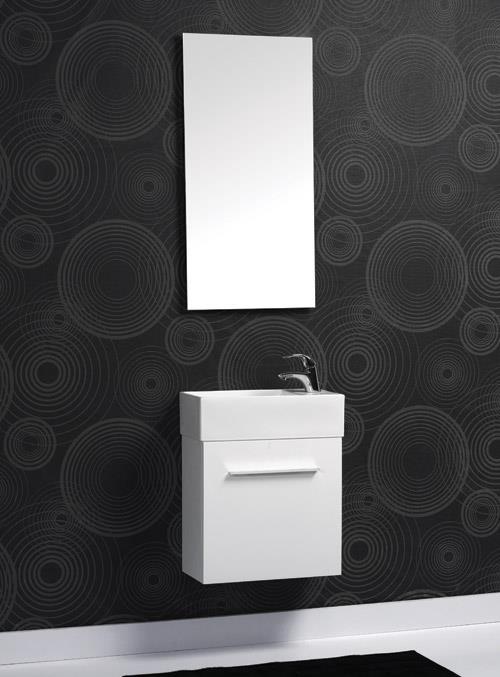 ארון אמבטיה לבן צר - אולימפיה דיזיין