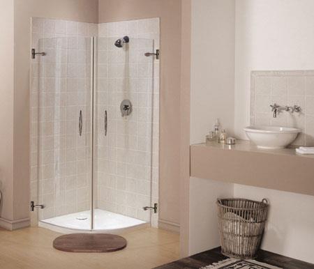 מקלחון 2 דלתות מעוגל - אולימפיה דיזיין