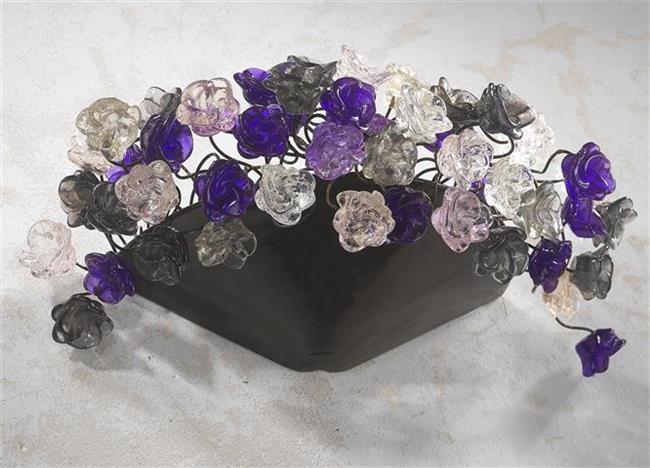תאורת קיר פרחים - יהודה אוזן