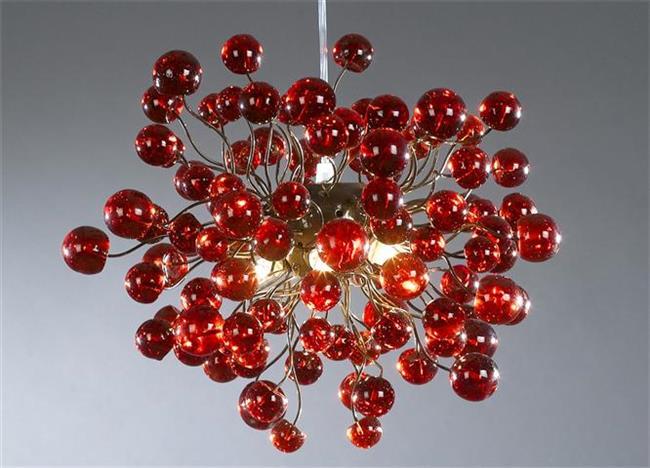 מנורת כדורים אדומים - יהודה אוזן