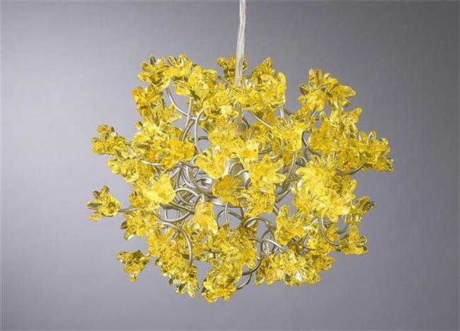 מנורת פרחים צהובים - יהודה אוזן