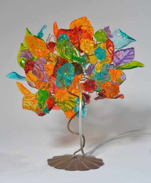 מנורה צבעונית לשולחן - יהודה אוזן