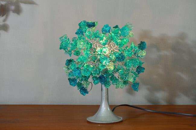 מנורת שולחן כחולה - יהודה אוזן