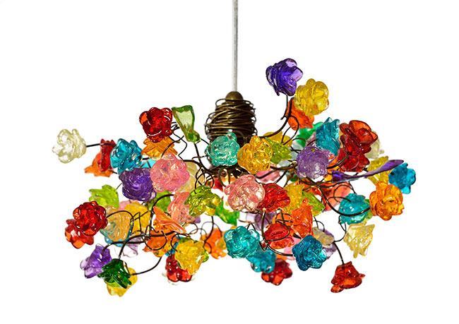 מנורת תלייה צבעונית - יהודה אוזן