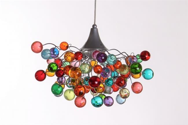 מנורת תלייה כדורי זכוכית - יהודה אוזן