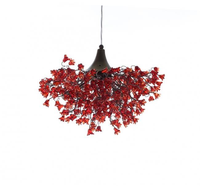 מנורת תלייה אדומה - יהודה אוזן