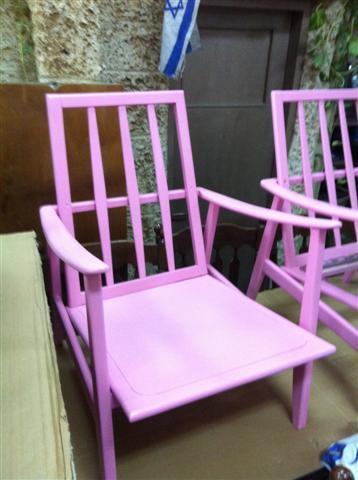 כורסא ורודה - retro gallery - רטרו גלרי