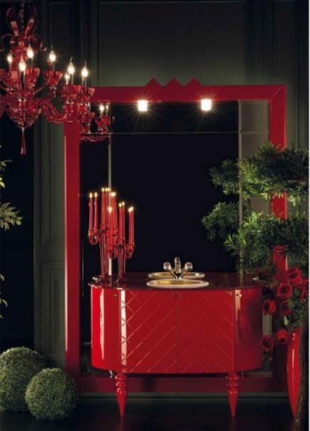 ריהוט אמבטיה אדום - OM Design - פרימיום