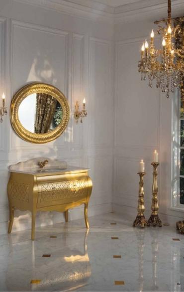 ריהוט זהב לאמבטיה - OM Design - פרימיום