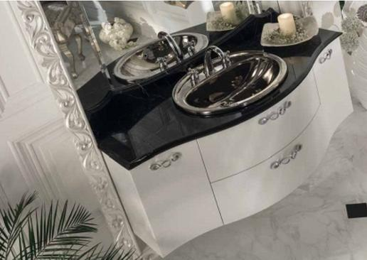 ריהוט שחור לבן לאמבטיה - OM Design - פרימיום
