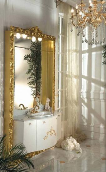 ריהוט אמבטיה משולב זהב - OM Design - פרימיום